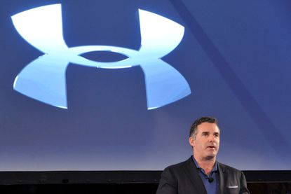 Baltimore, MD -- CEO Kevin Plank at the annual shareholder meeting at Under Armour headquarters in Locus Point.
