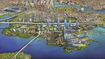 This is a rendering of Port Covington that is being shown in ads on TV, online and in print.