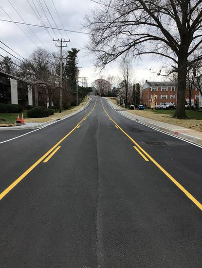A stretch of Moores Mill Road between Business Route 1 and Route 924 in Bel Air was reopened April 1 after being closed for nearly a year for a reconstruction project.