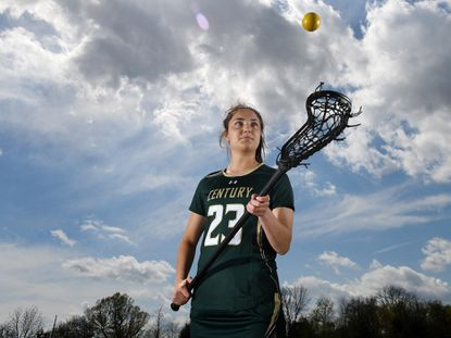 Century senior Demma Hall, the top scorer among county players this spring with 84 points, is the 2021 Carroll County girls lacrosse Player of the Year.