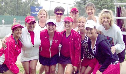 The players of the women's senior 3.0 Sectional Champions who competed at the United States Tennis Association's National Tournament in Rancho Mirage, Oct. 5-7. At far right is Sandy McKee.