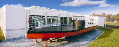 A replica of the USS Monitor at the Mariners' Museum in Newport News, Va.