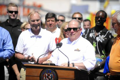 Governor Larry Hogan visits Ocean City and signs an executive order requiring Maryland public schools to begin after Labor Day starting in 2017.