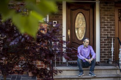 Rob Russo at his home in New York on May 13, 2020. Russo was anxious about the possibility of contracting the coronavirus at a hospital while there for a necessary procedure to unclog a stent.