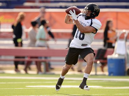 North squad wide receiver Michael Campanaro of Wake Forest pulls in a pass during practice at Ladd-Peebles Stadium during a Senior Bowl practice. The Ravens drafted Campanaro in the seventh round.