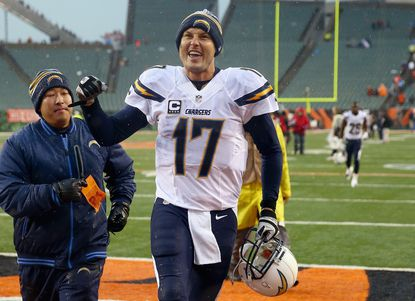 Philip Rivers and the Chargers are headed to the divisional round -- but a Pennsylvania man is trying to stop that.