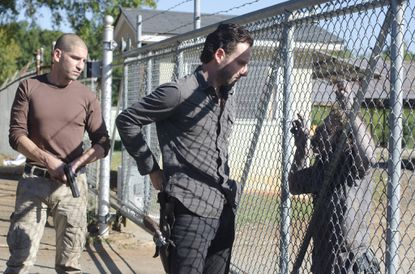 Shane Walsh (Jon Bernthal) and Rick Grimes (Andrew Lincoln).
