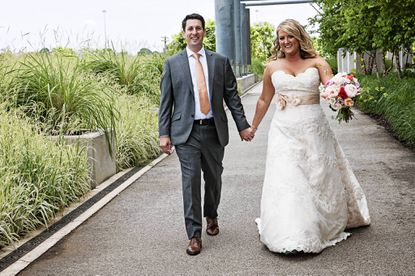 """An ice cream truck and food from the bride's father's restaurant were unique twists at the couple's reception. <a href=""""http://www.baltimoresun.com/features/weddings/bs-sc-wedded-0915-20130915,0,5407232.story"""">Read more about their wedding.</a>"""