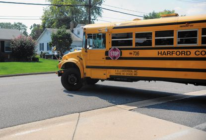 The Harford County Council hasn't taken final action on a bill to place cameras outside school buses to ticket drivers who don't stop.