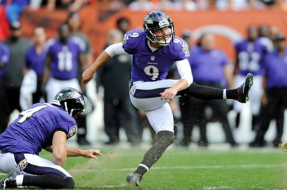 Justin Tucker's 64-yard field-goal attempt in a blowout win over Tampa Bay has been a topic of discussion.