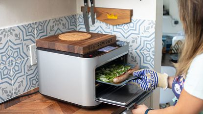 The Brava fit easily on our countertop, and we thought its functionality made it worth the counter space.