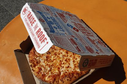 """Domino's Pizza even employs the """"we take this seriously"""" cliche on social media: When a customer complained on Twitter that his pizza was not """"fresh,"""" Domino's responded """"we take this seriously and want to investigate."""" (Gene J. Puskar/AP)"""