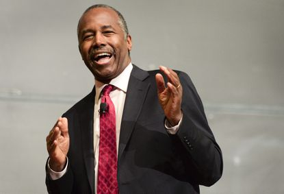 Yale University alumnus Dr. Benjamin Carson, President-elect Donald Trump's pick for secretary of the U.S. Department of Housing and Urban Development, speaks at Yale, Thursday, Dec. 8 as a guest of the William F. Buckley Jr. Program at Yale.
