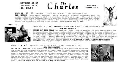 The Charles announces this summer's revival series, including 'Escape From New York,' early John Waters movie 'Multiple Maniacs,' more