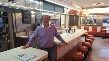 Damian Bohager opened a food truck park at the Hollywood Diner Backlot at 400 E. Saratoga St.