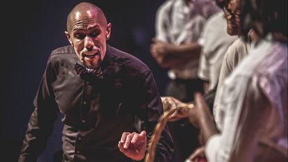 Larry D. Hylton, who plays Sportin' Life in the Morgan State University Choir and Baltimore Symphony Orchestra production of 'Porgy and Bess.'