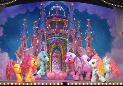 My Little Pony Castle; MY LITTLE PONY is a trademark of Hasbro and is used with permission. (C) 2007 Hasbro. All Rights Reserved. Photograph courtesy of VEE Corporation.