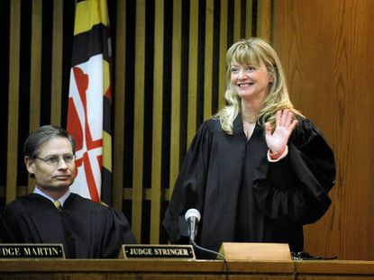 Ann Brobst was sworn in as Baltimore County Circuit Court judge in 2009.