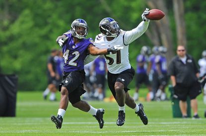 Linebacker C.J. Mosley participates in Ravens Rookie Minicamp.