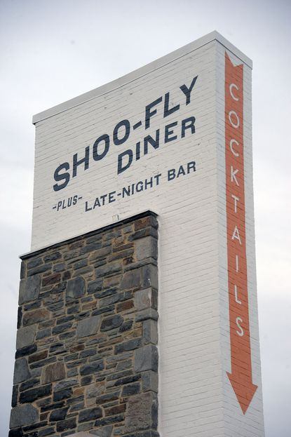 Shoo-Fly Diner shares space with the Woodberry Restaurant group's canning operations.