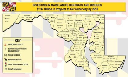A map tweeted and later deleted by Gov. Larry Hogan's Twitter account left off Baltimore City.