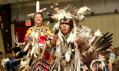 Indigenous dancers perform at the Baltimore American Indian Center's annual pow-wow at Towson University.