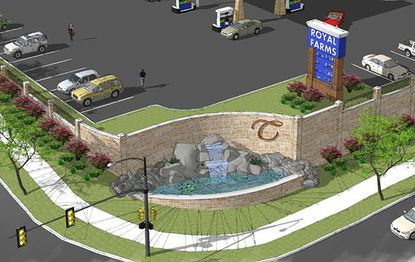 A rendering of the Royal Farms proposed for a property in Towson owned by the county.