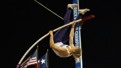 Olivia Gruver's height of 15-6¼ at the Stanford Invitational in March set an NCAA outdoor record.