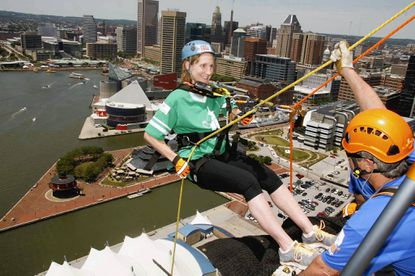 Barbara Case, a Mays Chapel resident and pediatric nephrology nurse will again rappel this year for Rappel for Kidney Health event on June 8. Longtime patient Jared Weiner, 18, of Owings Mills will join her.