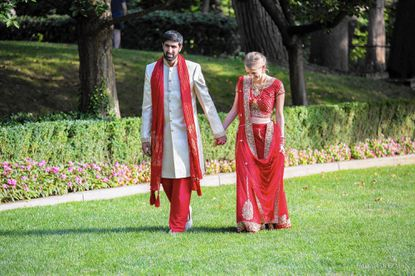 Annie Seibert and Arif Sorathia had two weddings over two days at the Omni Shoreham Hotel in D.C.