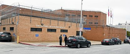 Exterior of Chesapeake Detention Facility (CDF) in Baltimore.