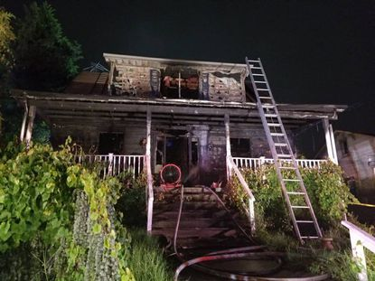 A woman was injured by a fire in the 3400 block of Hopkins Road on Tuesday, July 7, 2020.