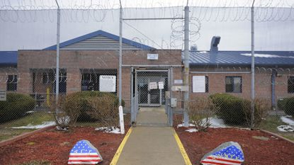 This is the staff and visitor entrance to the Eastern Correctional Institution Annex. At least six correction officers have been charged with smuggling drugs and other items into the prison as part of a large conspiracy.