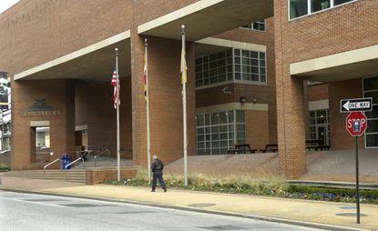 File photo of The Baltimore Sun building on Calvert Street.