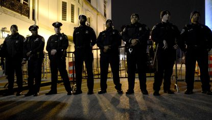 Baltimore police officers, in 2014.