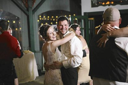 Rebecca and Anthony Huppman celebrate a wedding done right.