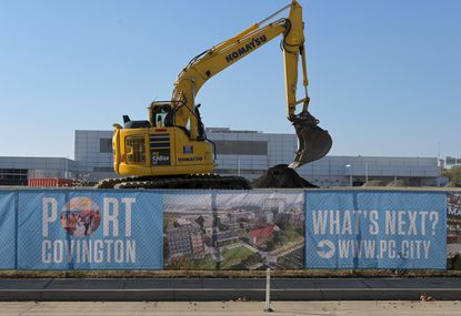 Work continues toward the construction of Weller Development's Port Covington project on East Cromwell Street. File.
