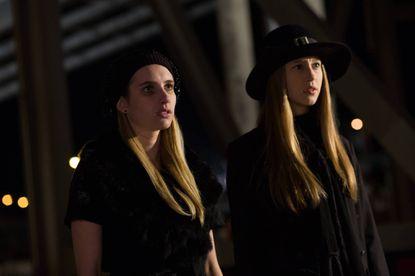 Emma Roberts (left) as Madison and Taissa Farmiga as Zoe.