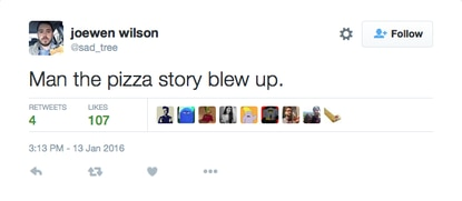 Area man briefly fills content vacuum with tale of mishandled pizza