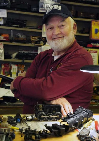 Charlie Getscher, owner of the Forest Hill Station train shop, has decided to close up his shop after many years. The store was once the Forest Hill station for the Ma & Pa Railroad.