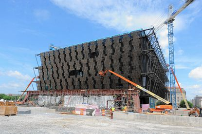 Construction continues on the Smithsonian Institution's National Museum of African American History and Culture. The museum is to open in 2016.