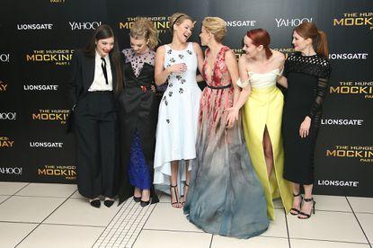 Jennifer Lawrence, 'Hunger Games' stars go glam at 'Mockingjay' premiere