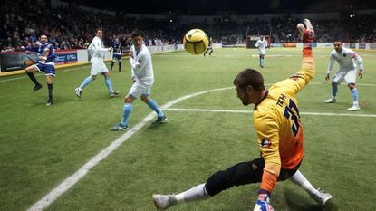Sockers goalie Chris Toth makes a save during a game last season against Tacoma.