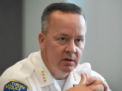 "Baltimore City Police Commissioner Kevin Davis said ""we need our police departments to reflect communities."""
