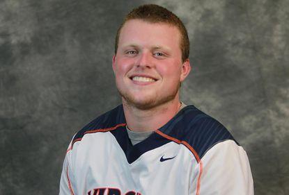 Virginia goalie Matt Barrett is the Men's Lacrosse Player of the Week.
