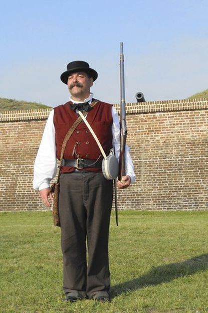 Larry Allen reenacts as a confederate soldier as a nod to the eleven ancestors who fought for the South, all in the same unit from Kentucky. He is an active member of the Trimble Camp of the Sons of Confederate Veterans in Ellicott City.
