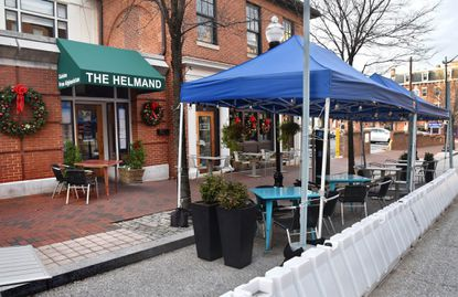 Helmand, the Afghani restaurant that has been a mainstay in Mt. Vernon since 1989, is facing its biggest challenge for survival due to the pandemic. Like several restaurants on N. Charles Street., Helmand has created an outdoor dining section. Dec. 9, 2020.