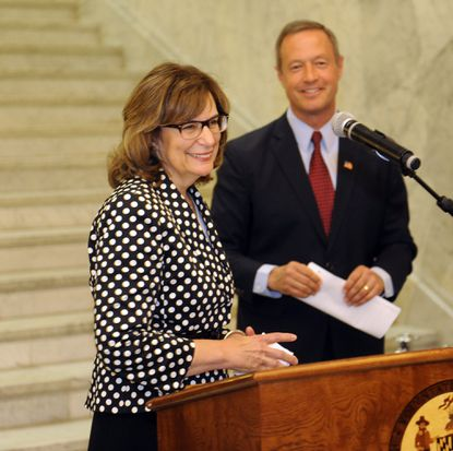 Governor Martin O'Malley (on right) named Judge Mary Ellen Barbera as Chief Judge of the Court Of Appeals.