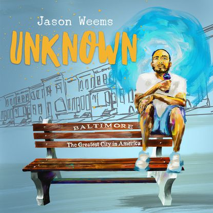 "Promotional artwork for Jason Weems' stand-up comedy special, ""Unknown."""