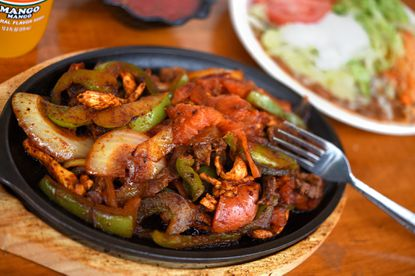Chicken and steak fajitas at La Tolteca. La Tolteca was voted best Mexican food in Harford Magazine's Best of Dining contest.